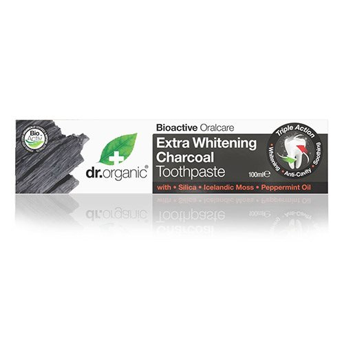 Image of Dr. Organic Tandpasta Extra Whitening Charcoal - 100 ml.