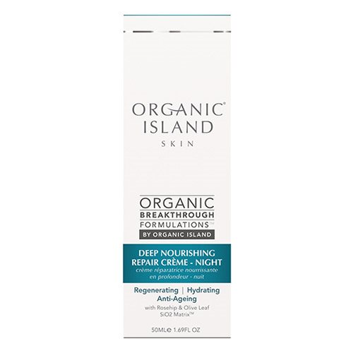 Image of Organic Island Night cream repair deep nourishing - 50 ml.