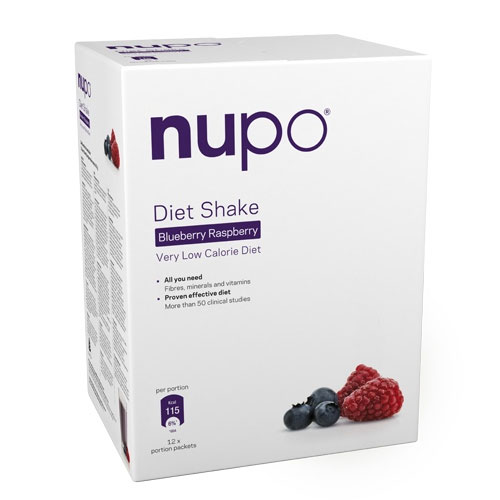 Image of Nupo Diet Shake Raspberry Blueberry - 384 gr.