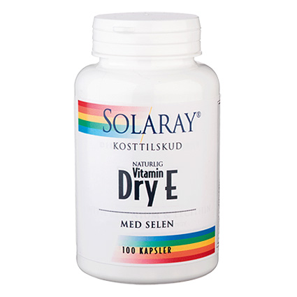 Image of Dry E-vitamin med selen, Solaray - 100 kaps.