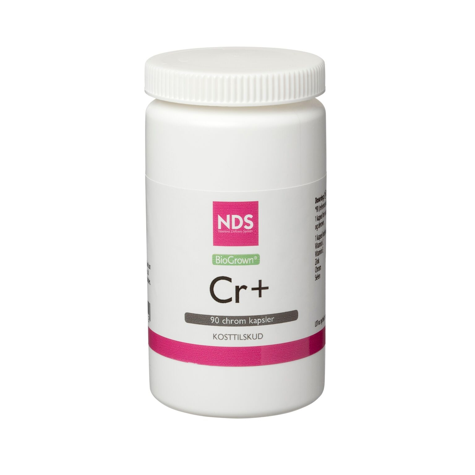 Image of NDS Cr+ Chrom tablet 60 mcg - 90 stk.