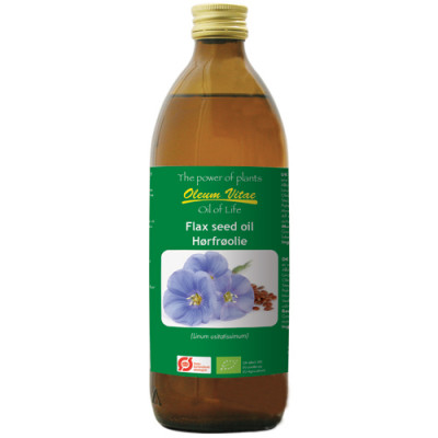 Oil of Life Ren Hørfrøolie Ø (500 ml)