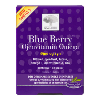 Blue Berry Omega 3 (60 Kapsler)