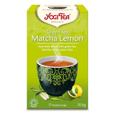 Yogi Tea Green tea matcha lemon Øko. - 17 br.