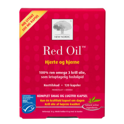 New Nordic Red Oil Omega-3 Krill Olie (60 kapsler)