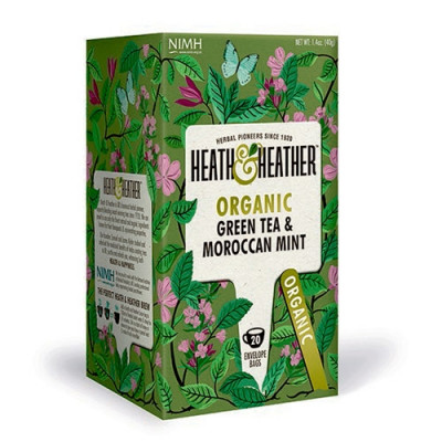 Heath & Heather Green Tea & Moroccan Mint Ø (20 breve)