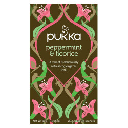 Pukka Peppermint & Licorice Te Ø (20 breve)