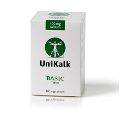 UniKalk® Basic 400 mg Calcium (180 tabletter)