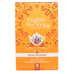 English Tea Shop Green Rooibos, Pomegranate Ø (20 breve)