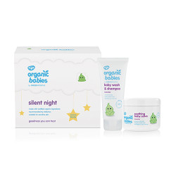 GreenPeople Silent Night Baby Gift - Lavender Baby Wash & Baby Salve (200 ml)