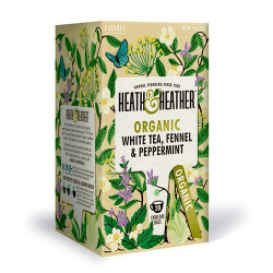 Heath & Heather White Tea, Fennel & Peppermint Ø (20 breve)