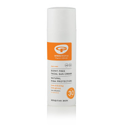 GreenPeople Scent-Free Facial Sun Cream SPF 30 (50 ml)