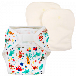 ImseVimse One Size Diaper W. Inserts Circus (1 stk)