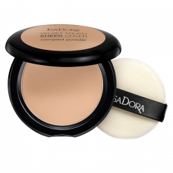IsaDora Velvet Touch Sheer Cover Compact Powder 45 Neutral Beige - 10 g