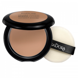 IsaDora Velvet Touch Sheer Cover Compact Powder 48 Neutral Almond - 10 g