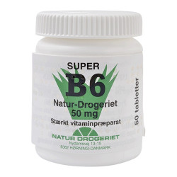 Natur Drogeriet B6 Vitamin 50 Mg (50 tabletter)