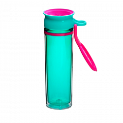 WOW Sports Bottle Turquoise Pink (600 ml)