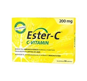 Image of Ester C - 200 mg - 90 tabs.